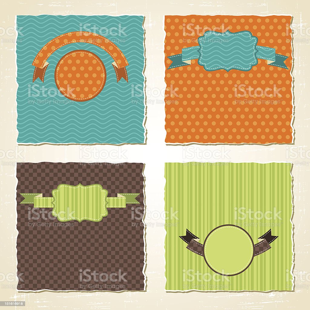 Torn scratch paper vintage background. Vector texture. royalty-free stock vector art