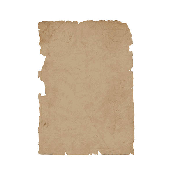 Torn sheet old paper vector art illustration