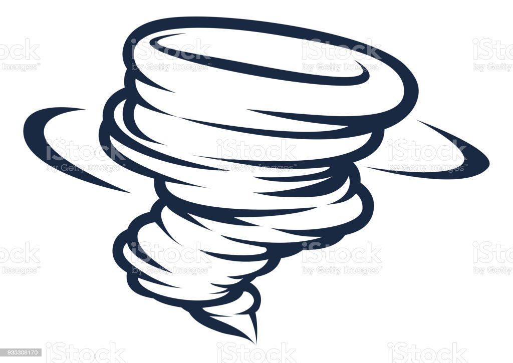 Tornado Cyclone Hurricane Twister Icon vector art illustration