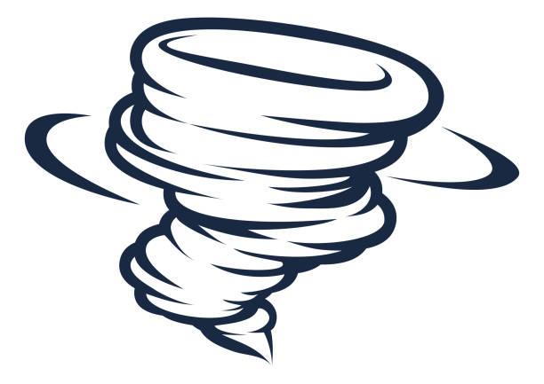 ilustraciones, imágenes clip art, dibujos animados e iconos de stock de icono de twister tornado ciclón huracán - hurricane