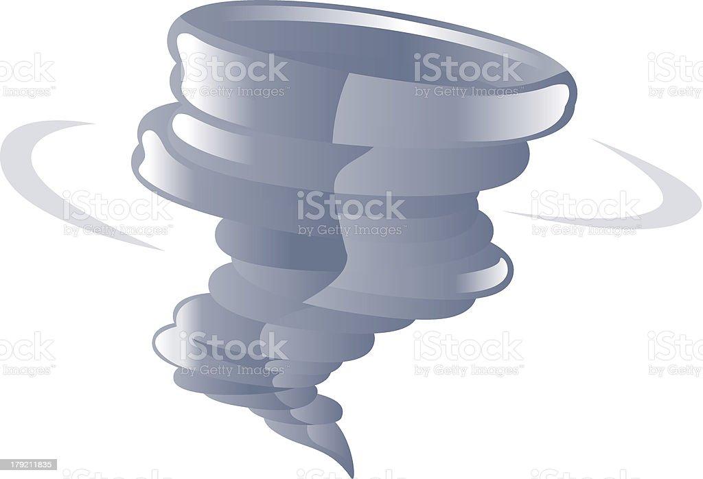 Tornado cyclone icon royalty-free stock vector art