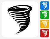 Tornado Icon Flat Graphic Design