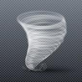 Tornado storm isolated. Realistic twister vector illustration. Tornado cyclone swirl, twister whirlwind hurricane