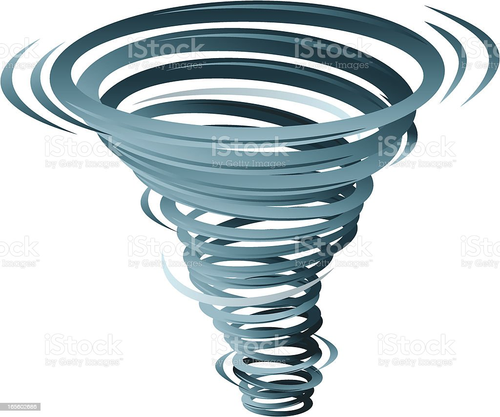 Tornado vector art illustration