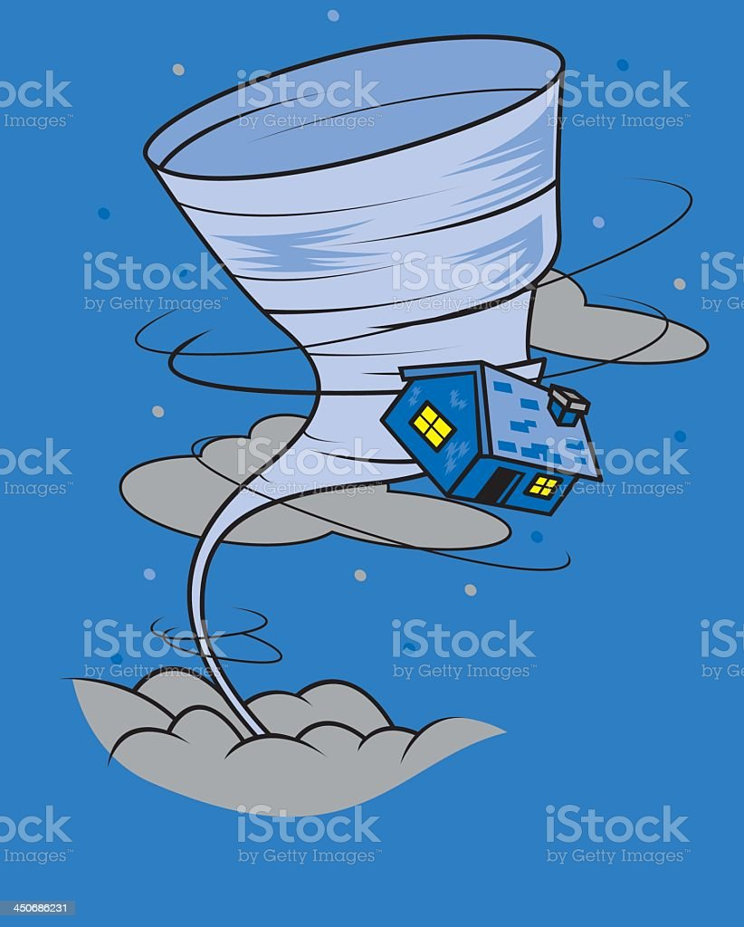 Tornado vector art illustration