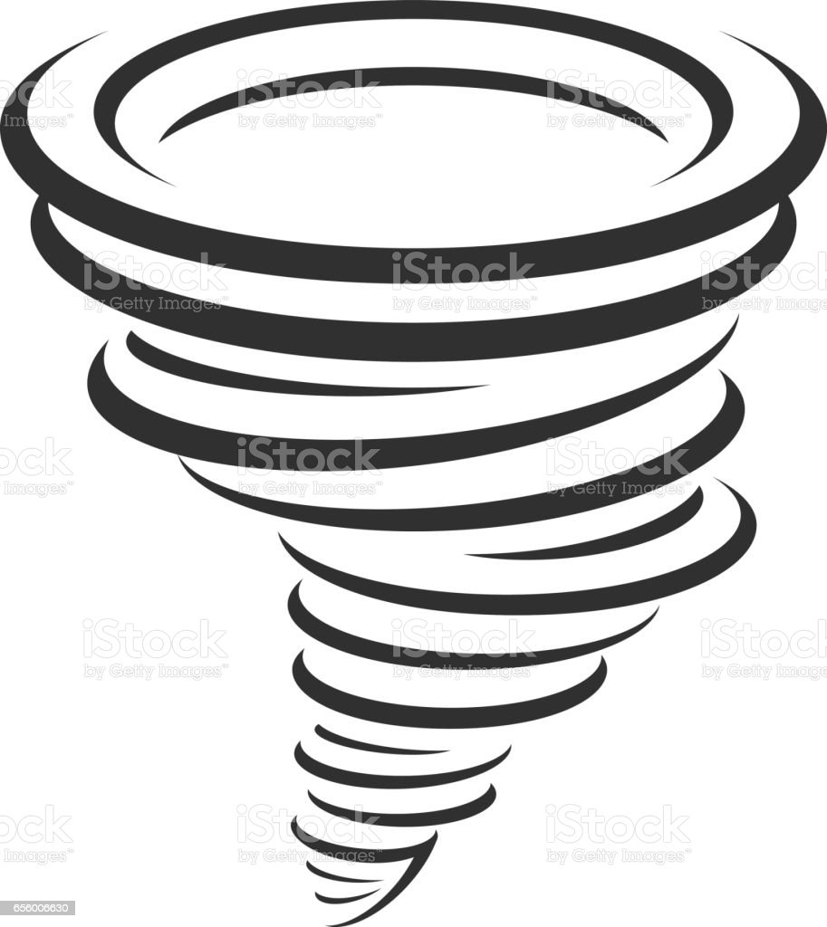 Tornadoes vector icon. vector art illustration