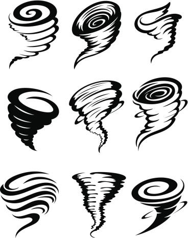 Tornados Stock Vektor Art und mehr Bilder von Biegung
