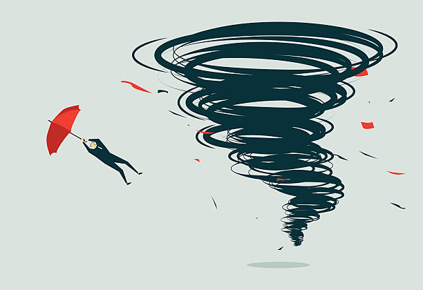 ilustraciones, imágenes clip art, dibujos animados e iconos de stock de tornado-ilustración - storm