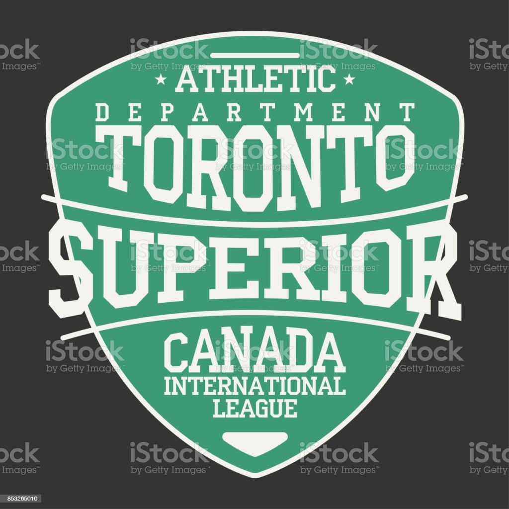 Ilustración de Emblema De Ropa Deportiva De Toronto Canadá En Forma ...