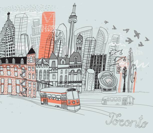 toronto city in canada - toronto stock illustrations