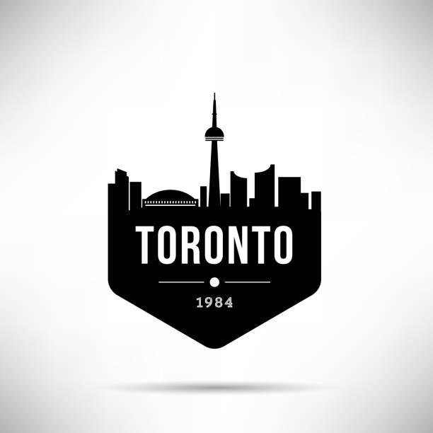 toronto city modern skyline vector template - toronto stock illustrations