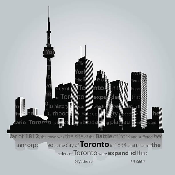 toronto city silhouette. - toronto stock illustrations