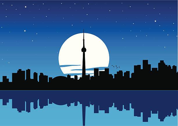 toronto cityscape - toronto stock illustrations