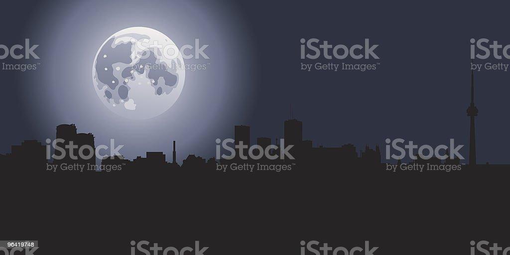 Toronto Moon vector art illustration