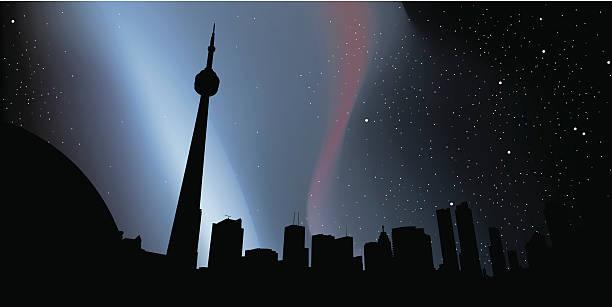 toronto night silhouette - toronto stock illustrations