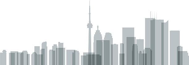 toronto skyline silhouette - toronto stock illustrations