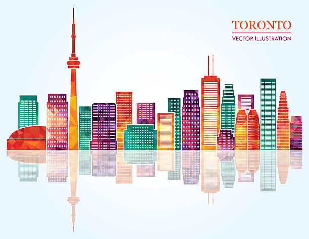 toronto skyline. vector illustration - toronto stock illustrations
