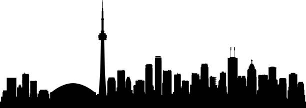 toronto (all buildings are complete and moveable) - toronto stock illustrations