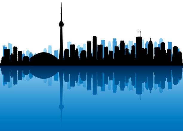 Toronto (All Buildings Are Complete and Moveable) vector art illustration
