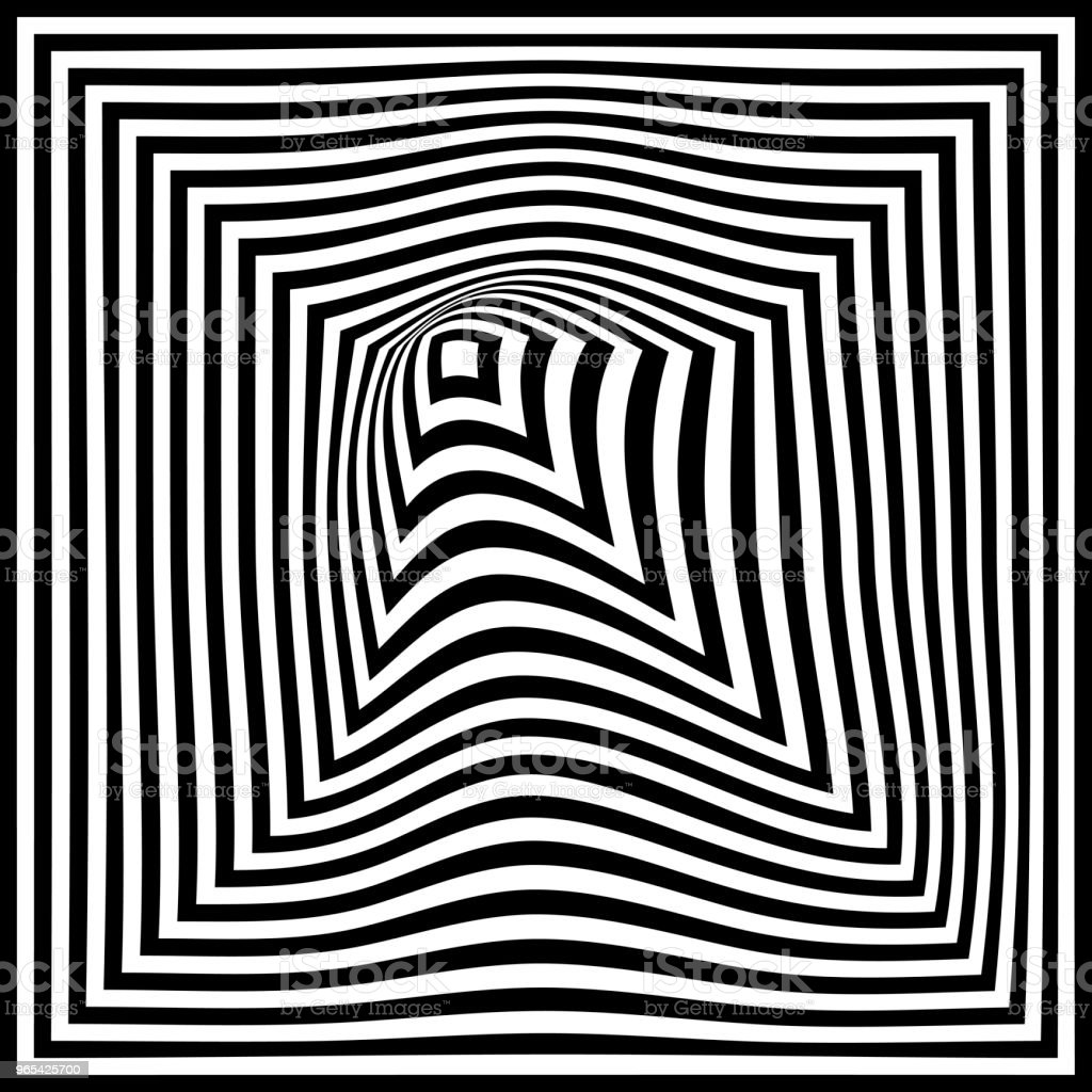 Torsion Illusion Pattern Optical Geometric Design Stock Vector Art & More Images of Abstract