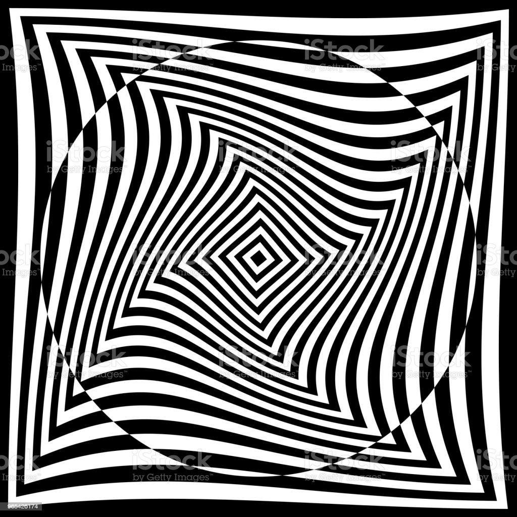 torsion illusion pattern, optical geometric design torsion illusion pattern optical geometric design - stockowe grafiki wektorowe i więcej obrazów abstrakcja royalty-free