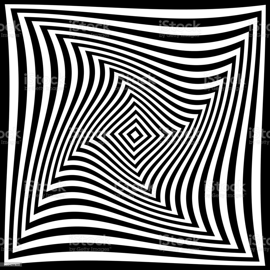 Torsion Illusion Muster, geometrische Optik - Lizenzfrei Abstrakt Vektorgrafik