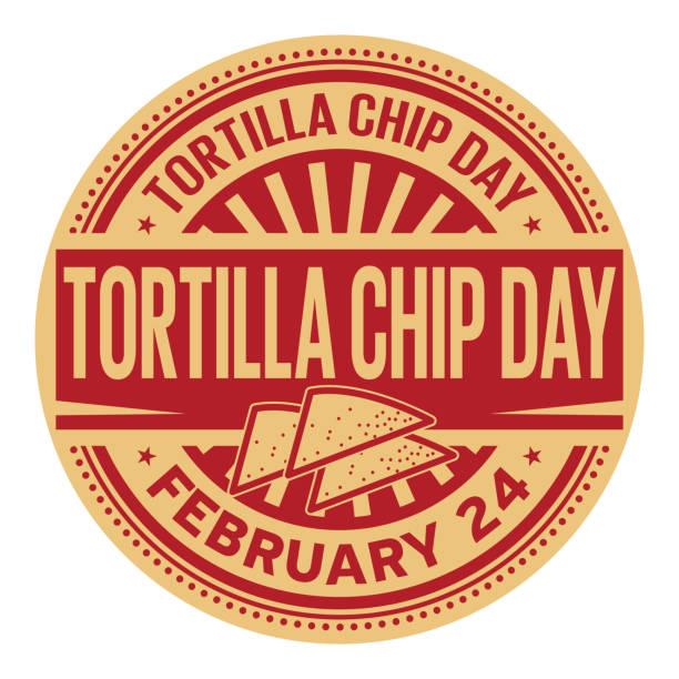 tortilla chips tag stempel - tortillas stock-grafiken, -clipart, -cartoons und -symbole
