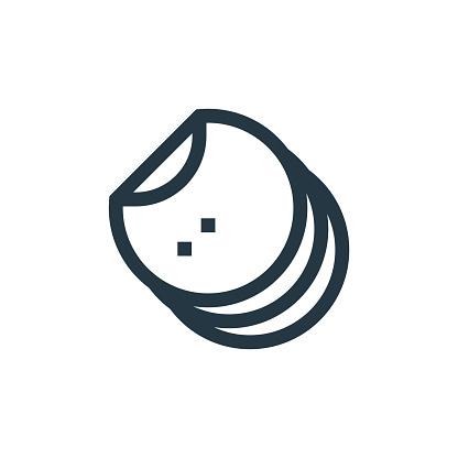 tortillas icon vector from cinco de mayo concept. Thin line illustration of tortillas editable stroke. tortillas linear sign for use on web and mobile apps, logo, print media..