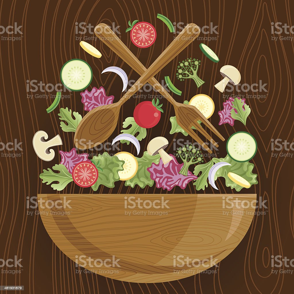 Tossed Salad royalty-free stock vector art