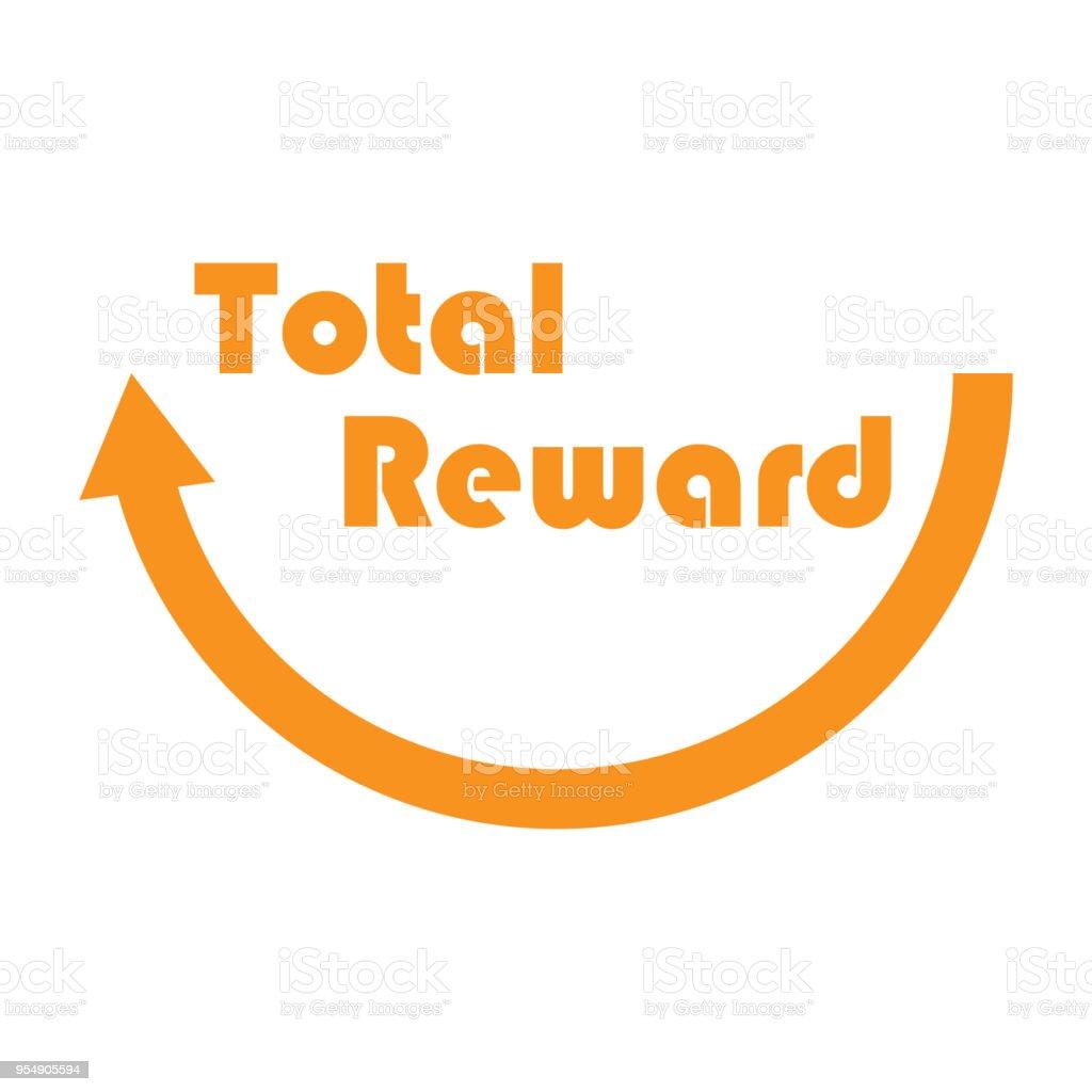 Total Reward sign for HR compensation and Benefit vector art illustration