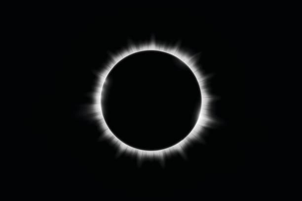 Total solar eclipse vector illustration Total solar eclipse vector illustration corona sun stock illustrations