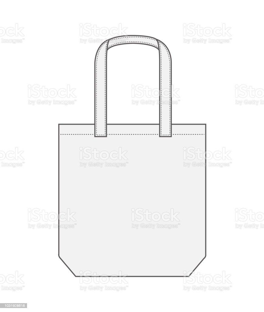 トートバッグショッピング バッグエコ袋テンプレート イラスト