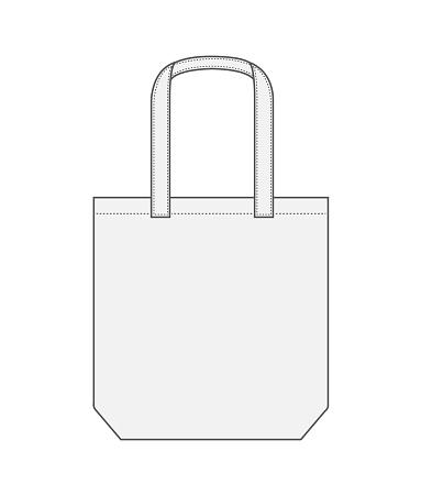 Tote bag / shopping bag / eco bag template illustration (white)