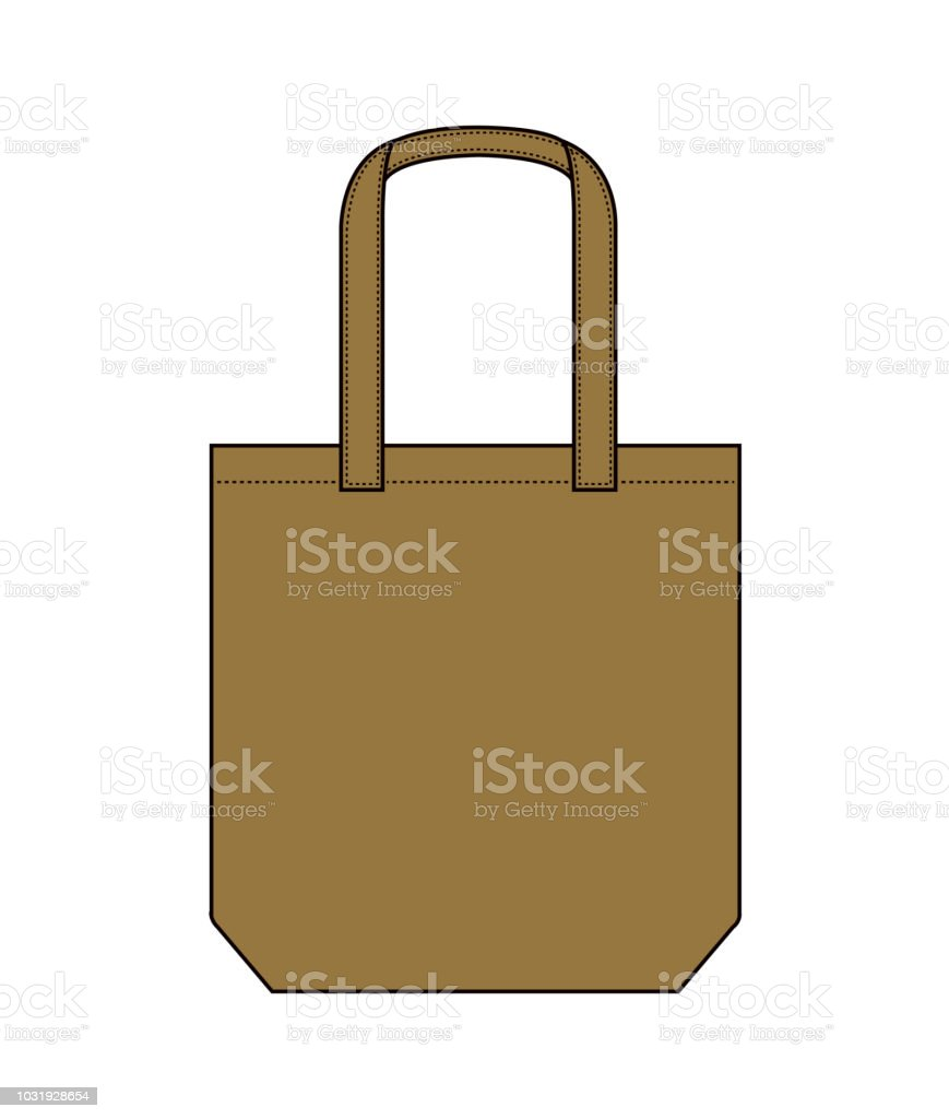 tote bag shopping bag eco bag template illustration stock vector art