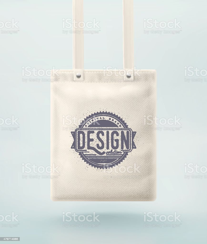 Tote Bag vector art illustration