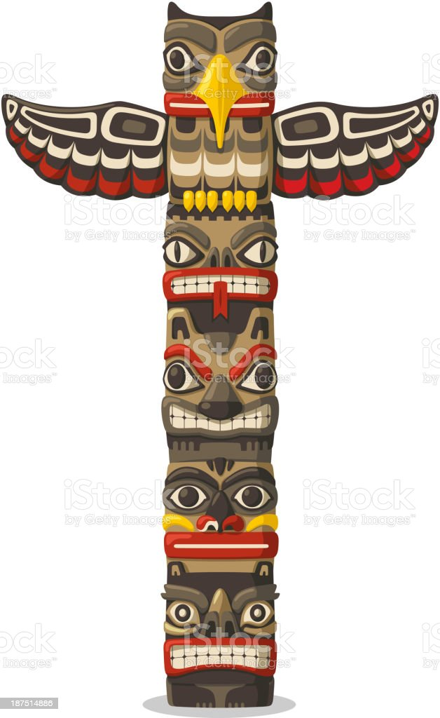 royalty free totem pole clip art vector images illustrations istock rh istockphoto com totem pole clipart free tiki totem pole clipart