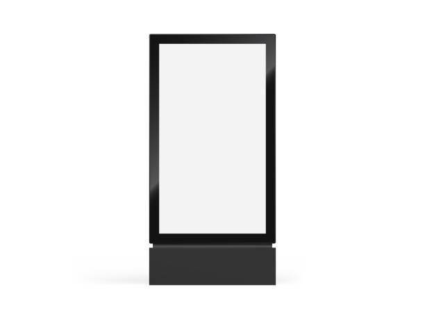totem-schilder-mockup, vektorlickkasten oder vertikale plakat-und leuchtkasten-beschilderung in realistischem totem-rahmen - plakat stock-grafiken, -clipart, -cartoons und -symbole