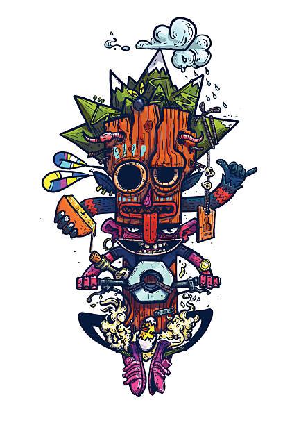 totem - raclette stock-grafiken, -clipart, -cartoons und -symbole