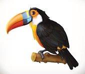 Toucan. 3d vector icon