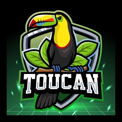 Toucan bird mascot. esport logo design