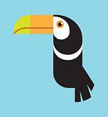 Multicoloured Toucan Bird