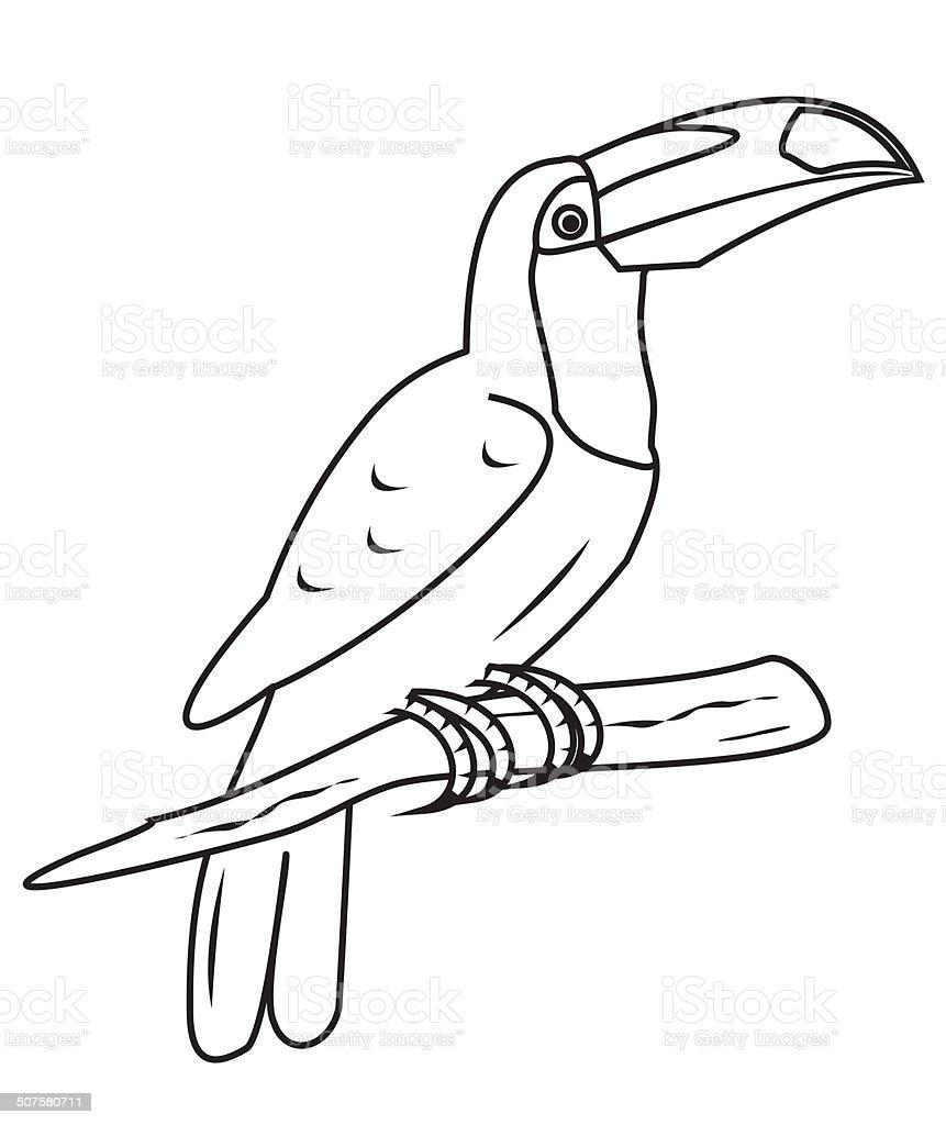 Tucán De Colorear - Arte vectorial de stock y más imágenes de Animal ...