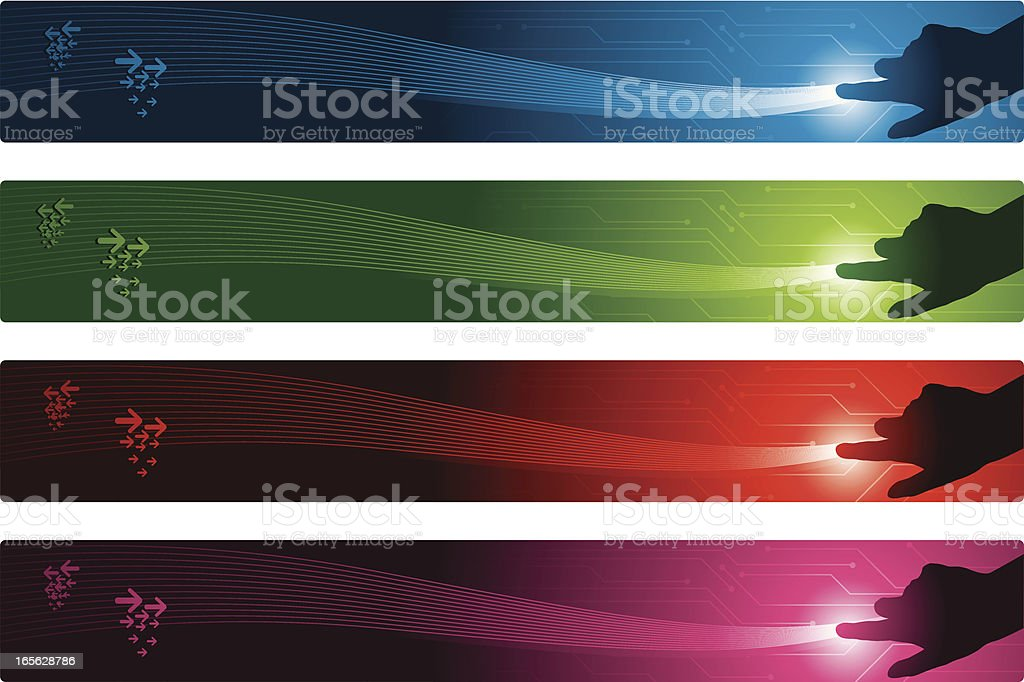 Touch banners vector art illustration