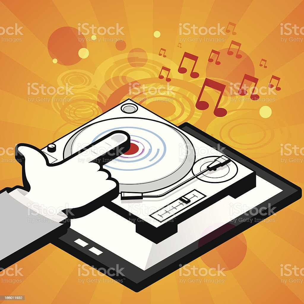 Touch dj tablet royalty-free stock vector art