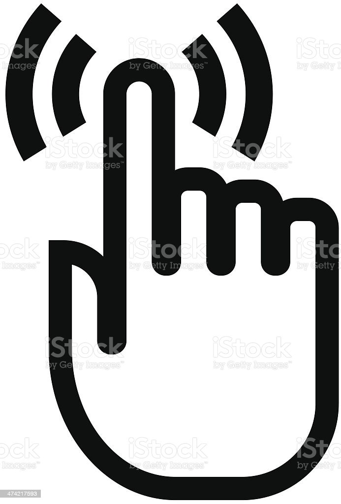 Touch finger icon vector art illustration