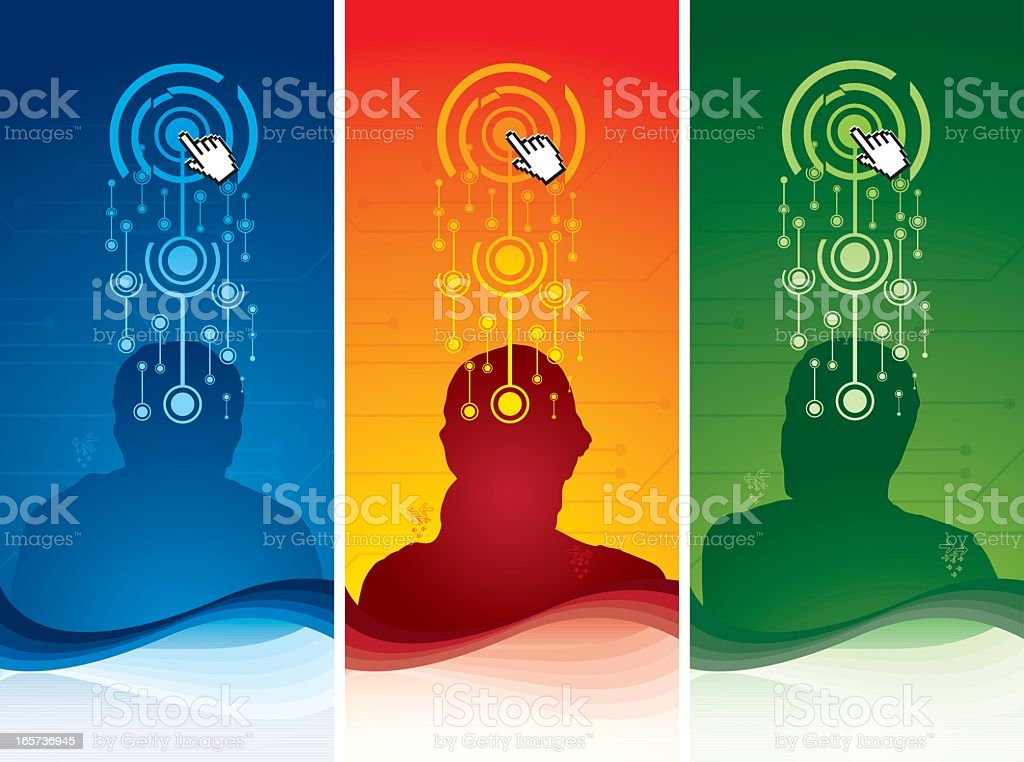 Touch heads royalty-free touch heads stock vector art & more images of abstract