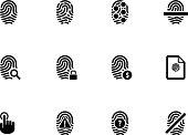 Touch id fingerprint icons on white background. Vector illustration.