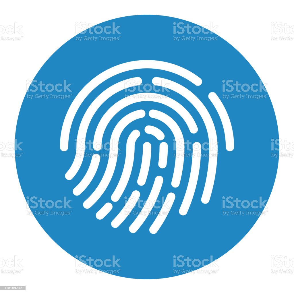Touch ID. Fingerprint recognition. ID app icon. Vector illustration