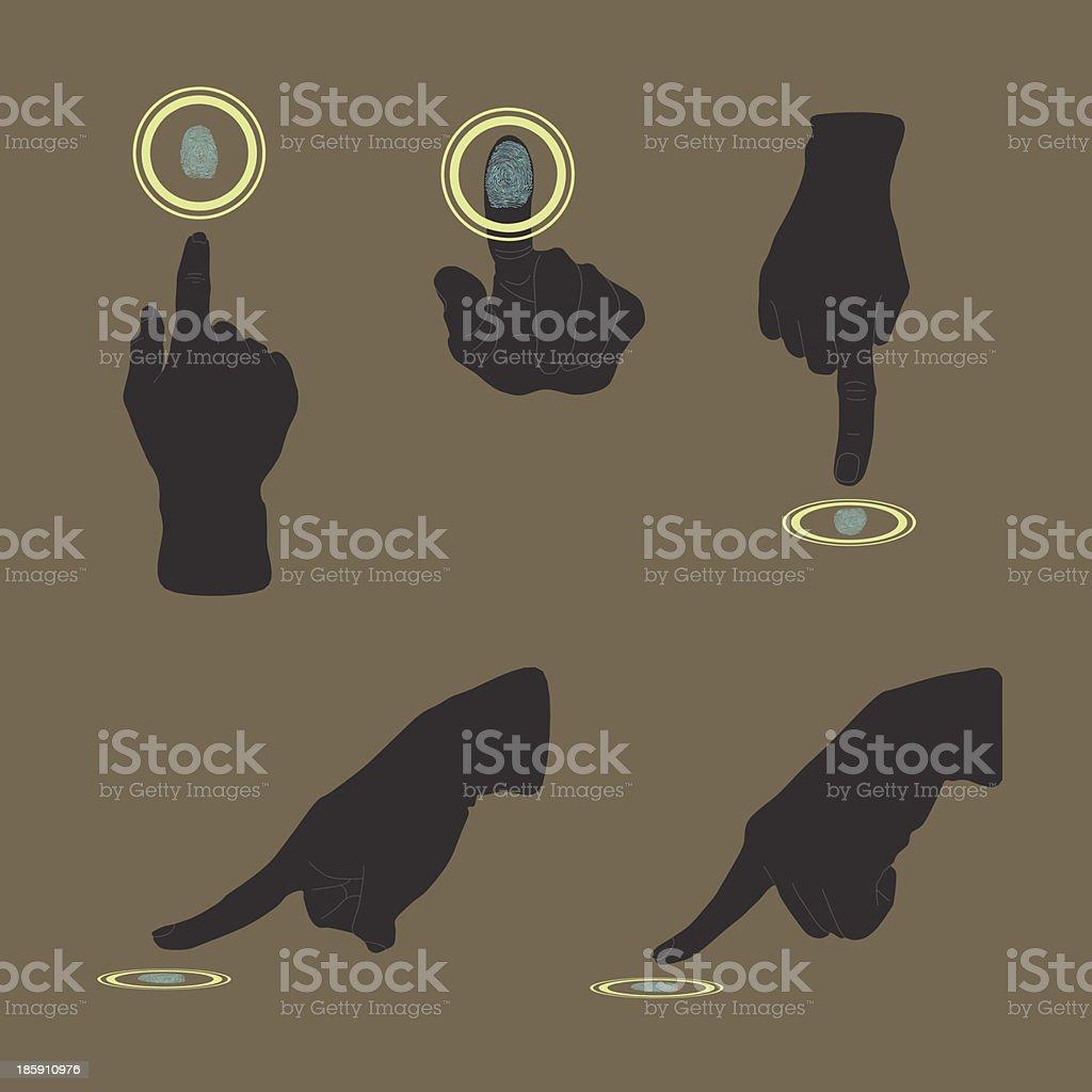 Touch, ID, Fingerprint scan Access Symbol vector art illustration