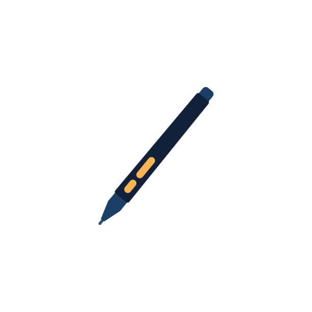 touch pen, ipad touch pen icon - ipad stock illustrations